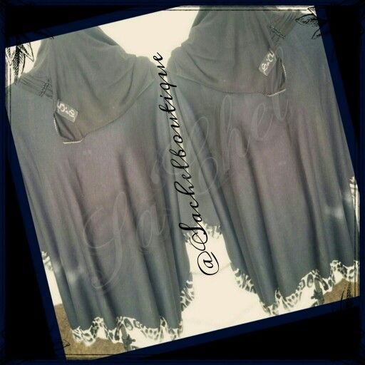 Sa'Chel black with leopard print trim light woolen tunic perfect for the spring weather over your abaya.