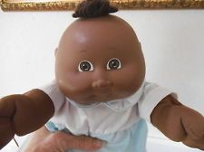 VINTAGE 1982 AFRICAN AMERICAN BLACK CABBAGE PATCH BABY DOLL - TAGGED PLAYSUIT