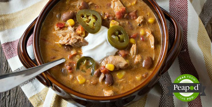Slow Cooker Tex Mex Chicken Stew Recipe from Peapod
