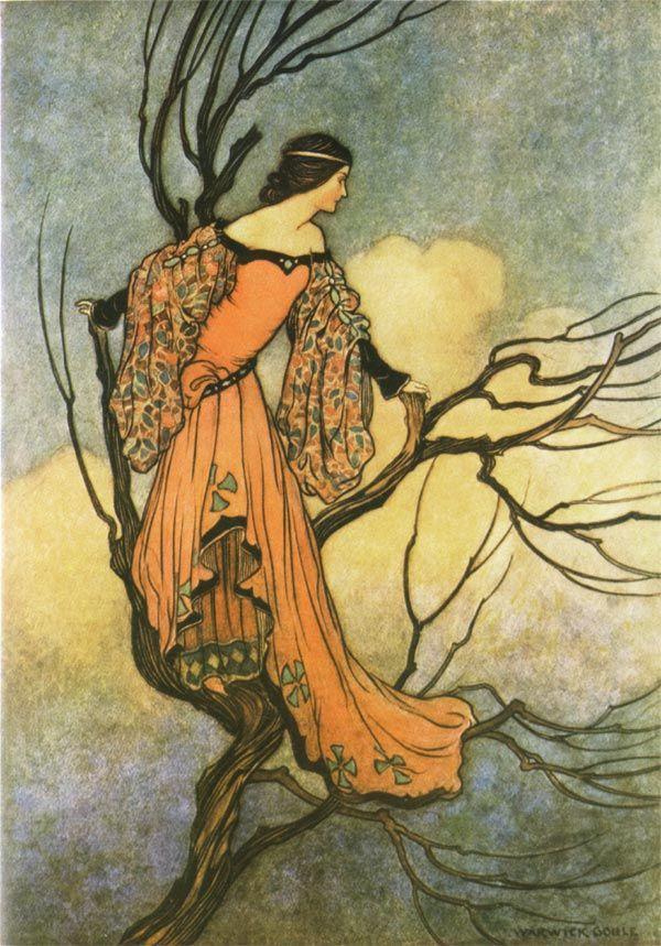 The Iron Stove -- Warwick Goble -- Fairytale Illustration: