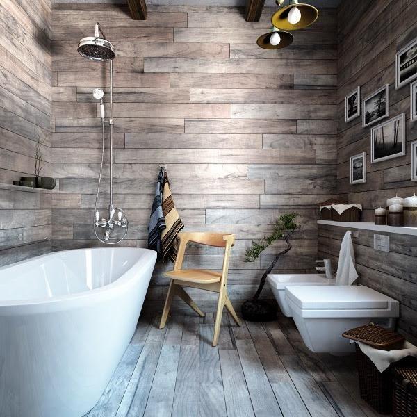 Rusztikus fürdőszoba - fürdő / WC ötlet