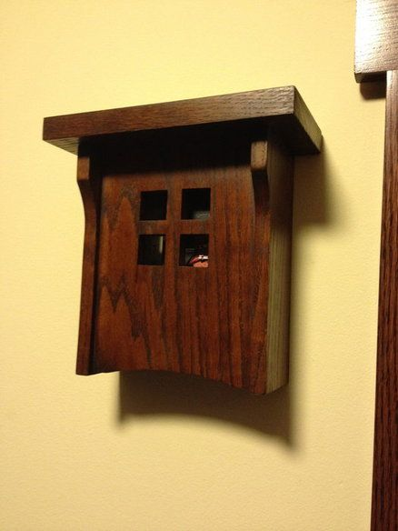 Craftsman style doorbell cover. ** I really like this and you could probably make it out of scrap wood left over from another project! **