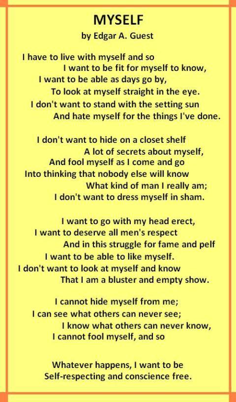 poem -  u0026quot myself u0026quot