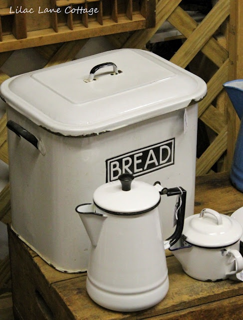 This feels like grandma's kitchen. Old fashioned bread bin. www.madblossom.com.au