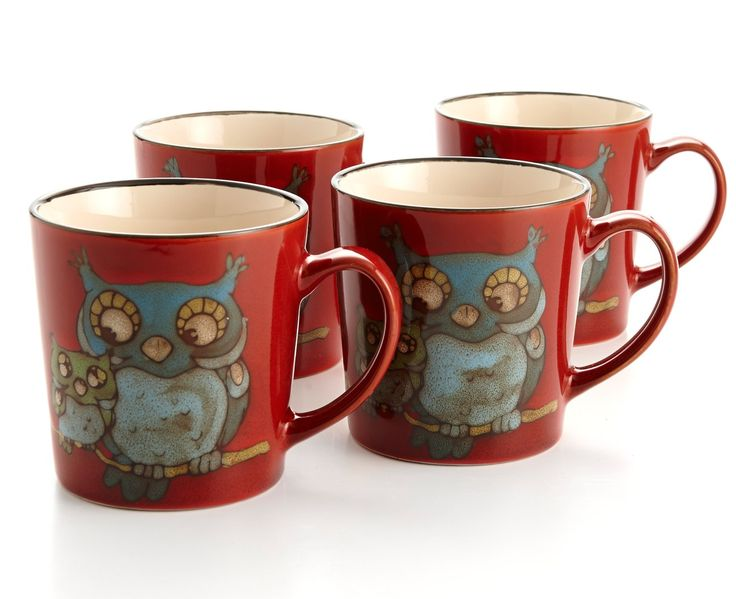 GLAZED OWL MUGS, 4 pc - Coffee & Tea - Entertaining | Stokes Inc. Canada's Online Kitchen Store
