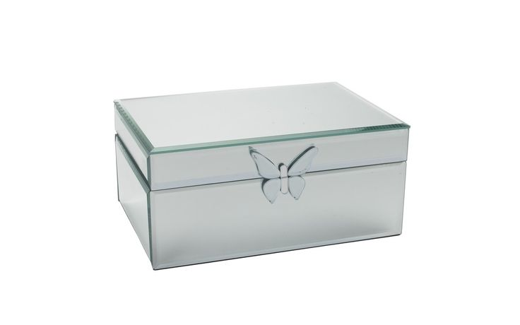 Butterfly Mirrored Jewellery Box at Laura Ashley