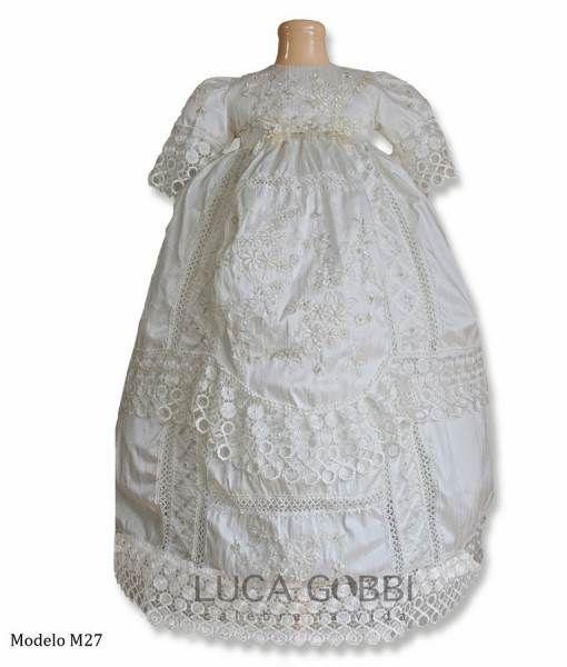 Ropon de Bautizo para Nina Luca Gobbi M27