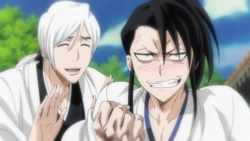Ukitake with a young Byakuya from Bleach