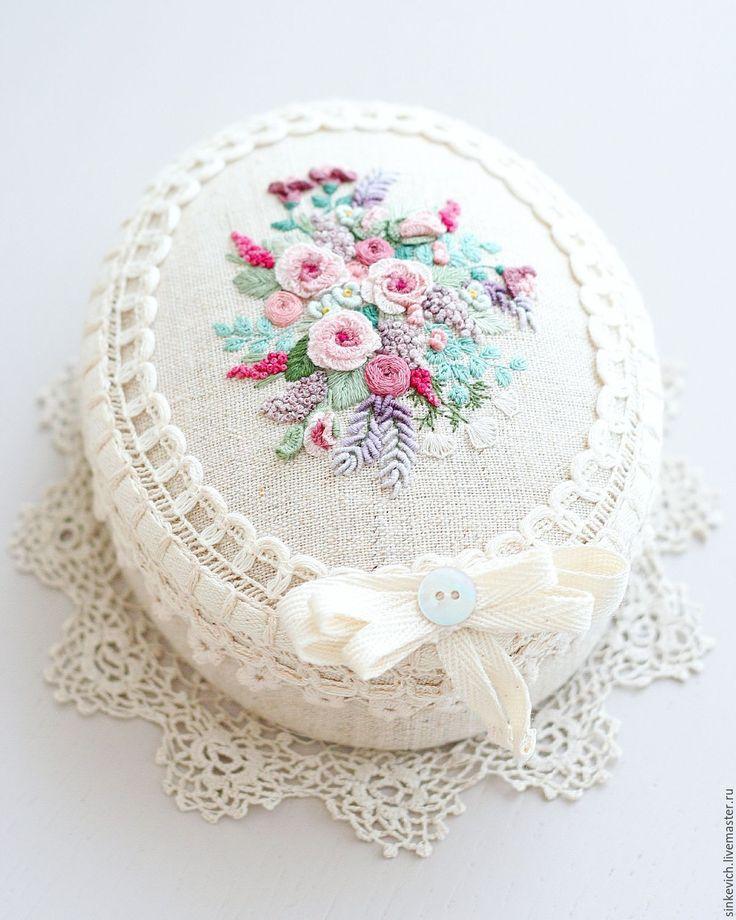 Купить В предчувствии Лета... - шкатулка, вышивка, текстильная шкатулка, для украшений, для девушки, подарок