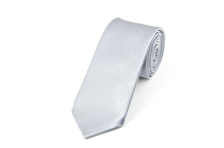 Satin Silver Necktie