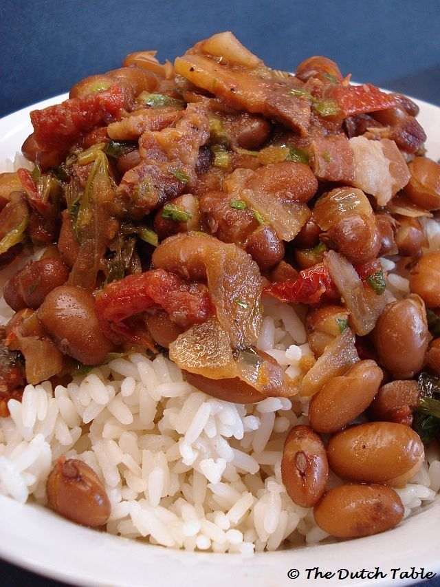 Brown beans and rice, or as we say in Holland, bruine bonen met rijst , is a typical dish from Suriname, a former colony of the Netherlands...