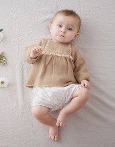 Modèle tunique layette rose Super Baby