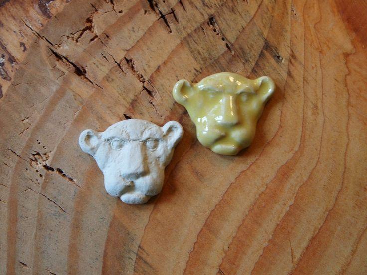 Semi-Precious Stones – Ceramic lion  – a unique product by Efraim_jewellery on DaWanda