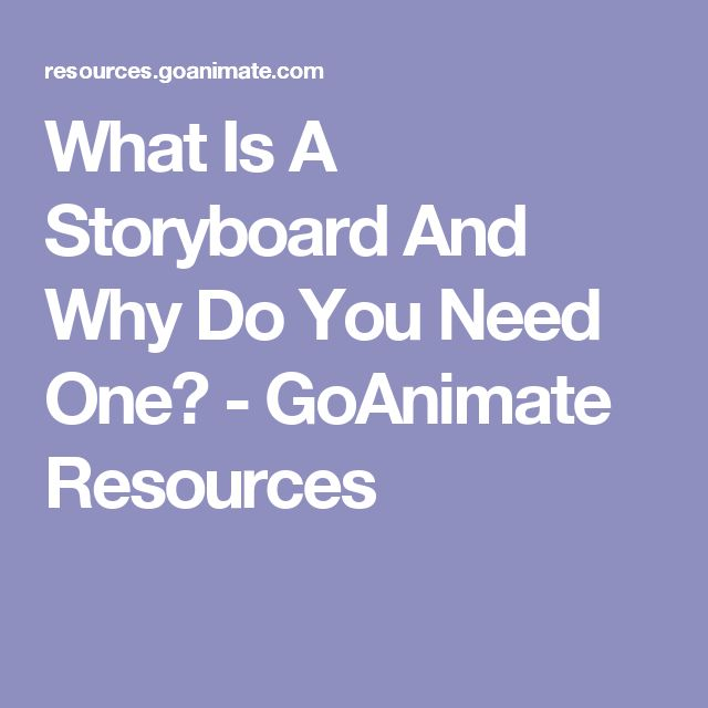 What Is A Storyboard And Why Do You Need One? - GoAnimate Resources