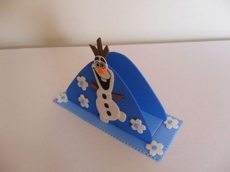 Porta Guardanapo para centro de mesa - Frozen  totalmente confeccionado em Eva, com personagem do tema.  Fabricamos em qualquer tema ou cor, á escolha do cliente.  Serve também para decoração de mesa de doces.  Pedido mínimo 10 unidades - Apenas sob encomenda  Frete por conta do cliente