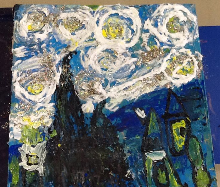 Starry Starry Night on canvas