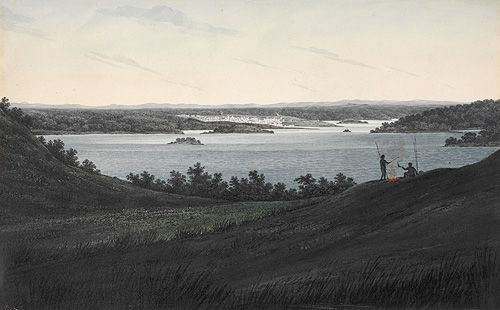 A View of Sydney New South Wales on Entering the Heads - G. W. Evans, 1809