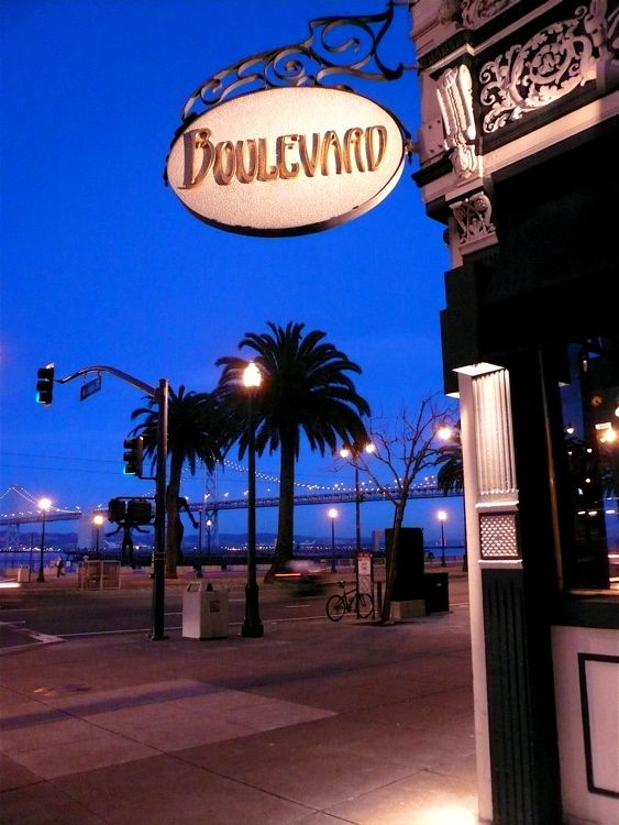 Boulevard located in san francisco california was named for Romantic restaurants in california