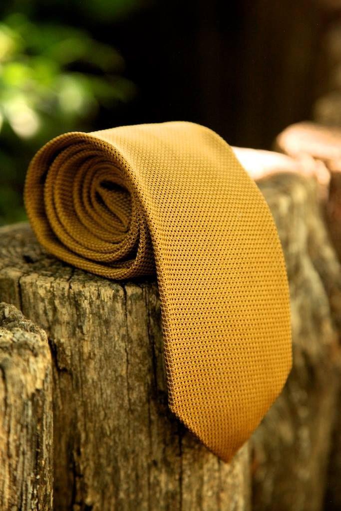 Honey-gold silk woven grenadine.