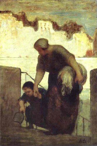 La laveuse du Quai D'Anjou à Paris par Honoré Daumier
