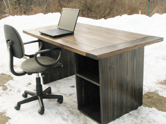 Computer Desk, Office Desk, High Quality, Rustic, Modern, Farmhouse on Etsy, $685.00