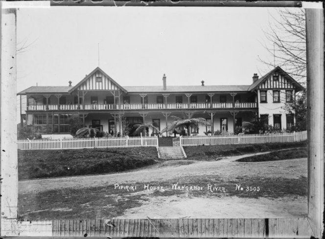 View of the hotel, Pipiriki House, near the Whanganui River