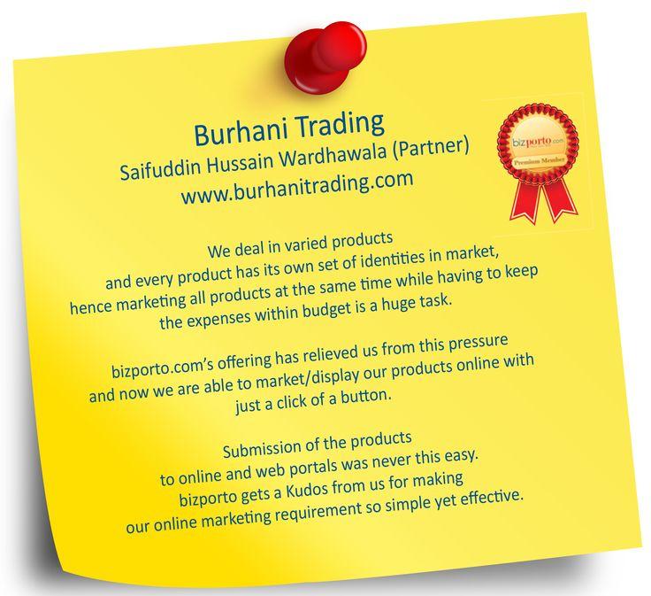 Testimonials from Burhani Trading Company & Galaxy Tools Center ! #Testimonials #Review #Feedback.