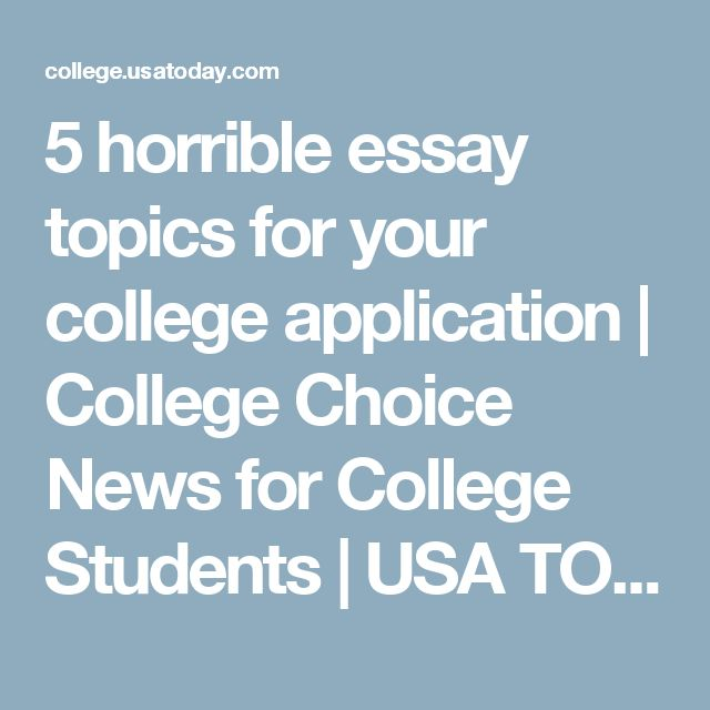 Essay topics college students