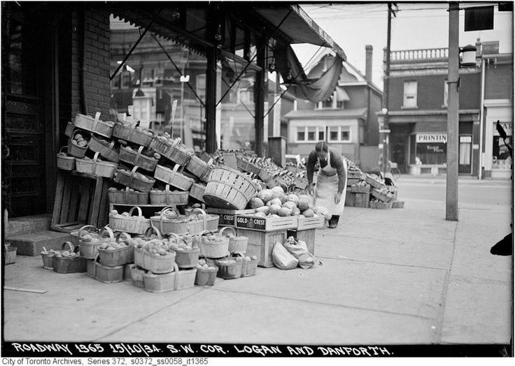 Southwest corner Logan and Danforth - October 15, 1934