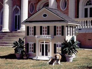 La Petite Maison. The company creates custom dog houses that match people's homes or their dog's breed. This model cost about 6,000 dollars but the houses go as high as 35,000.