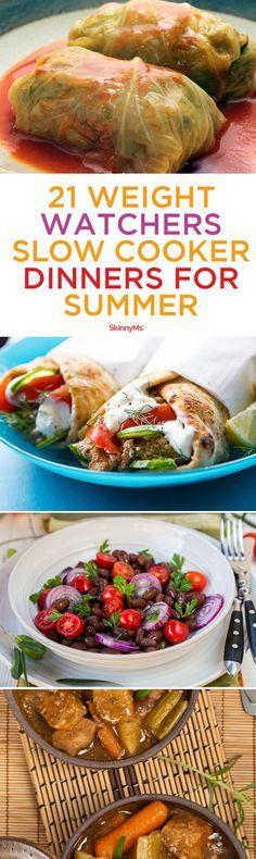 21 Weight Watchers Slow Cooker Dinners for Summer! #summer #weightwatchers