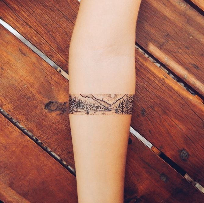 Tatto Ideas & Trends 2017 - DISCOVER Mountain Band drawing - Google'da Ara Discovred by : Mély | Chaudron Pastel More