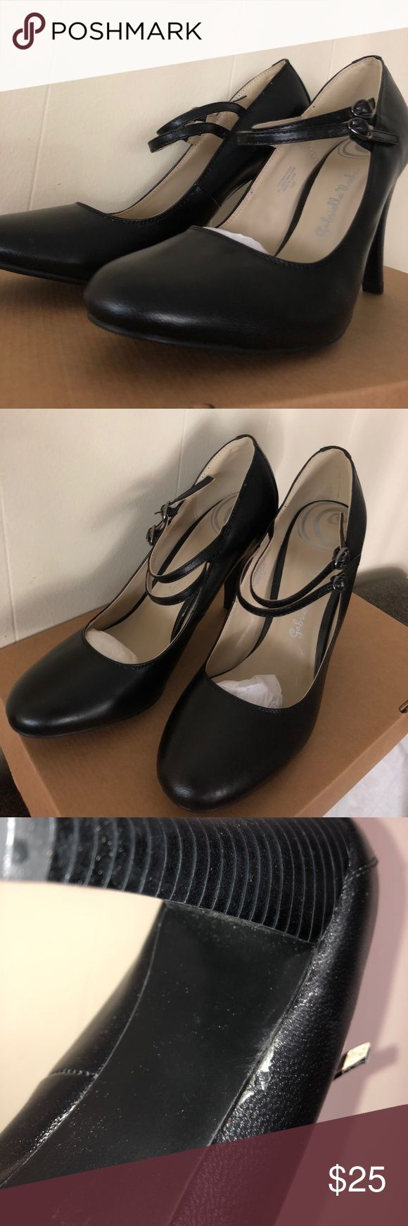 Gabriella Rocha Black Mary Jane Ankle Strap Heels Brand new, never worn black heels. You get exactly what's pictured. Gabriella Rocha Shoes Heels