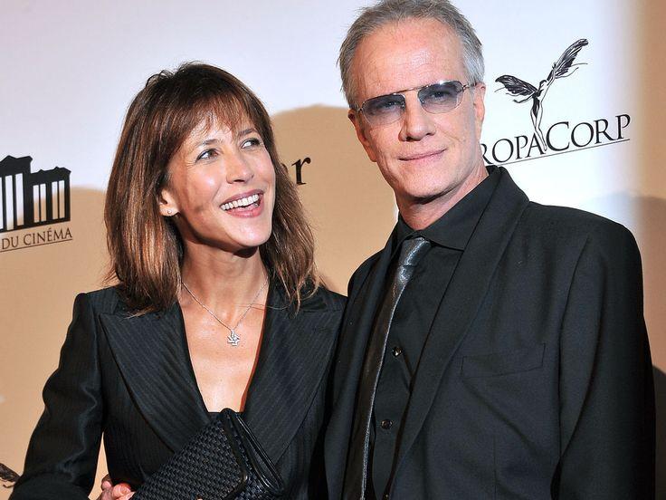 Sophie Marceau et Christophe Lambert à l'inauguration de La Cité du cinéma, à Saint-Denis, le 21 septembre 2012