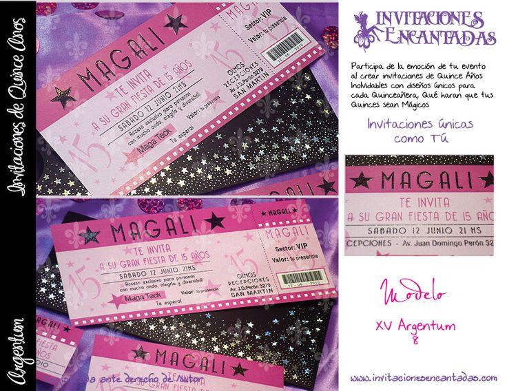 invitacion con dise u00f1o de ticket de cine