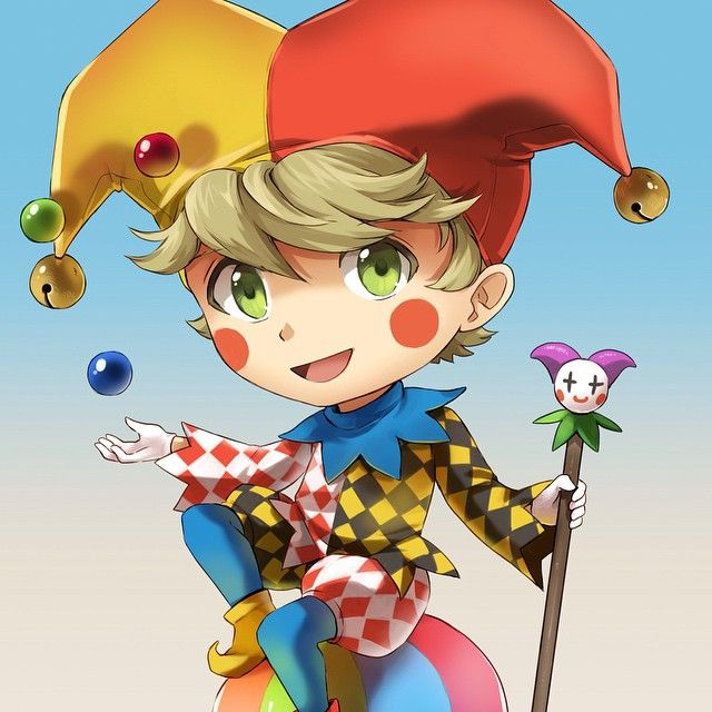Jester in colour!  Gonna make you laugh :) #jester #fairytale #tabletop #cardgame #kickstarter