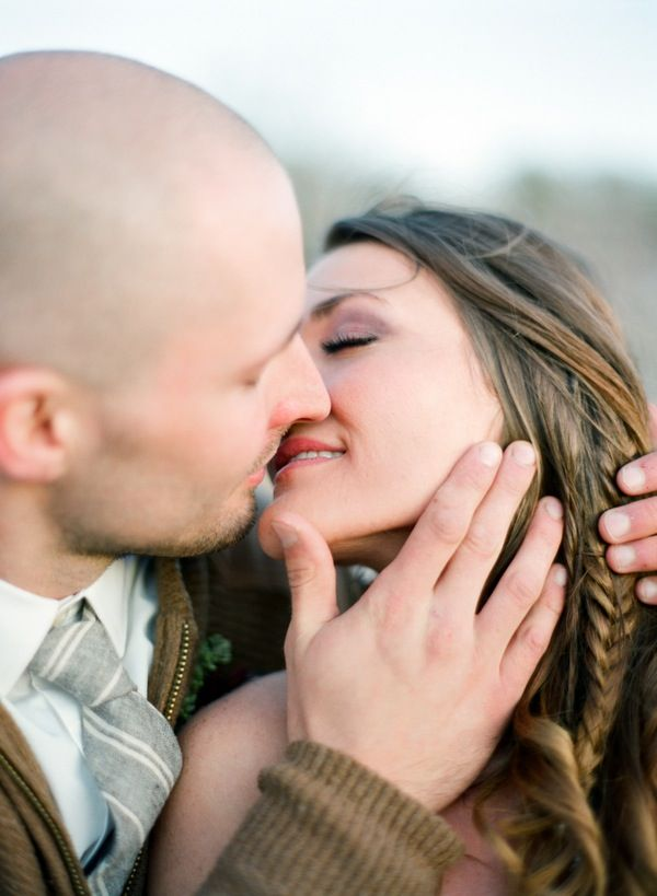 Isn't love beautiful? A tender newlywed kiss captured by @Alea Moore Moore Lovely