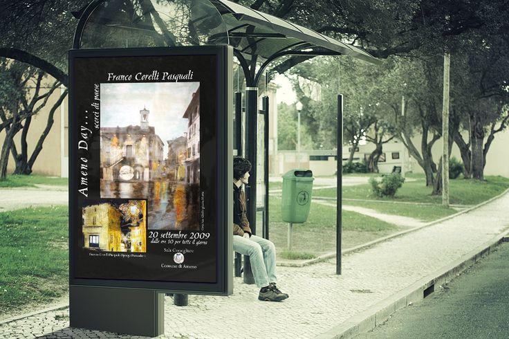 Manifesto per la mostra personale dell'artista Franco Pasquali Corelli