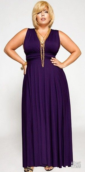 Fashionista: Plus Size Maxi Dress - I like the style - tops made high enough for my chest