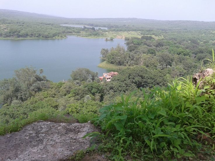 Ranthambore national park view from the fort , See Jogi Mahal , padam lake , Raj bag Lake  from the Fort. The fort lies adjoining the #Ranthambore national park and it was the hunting place of the #Maharajahs of #Jaipur before Indian independence.