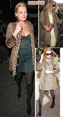 Леопардовое пальто с чем носить