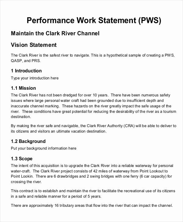 Simple Statement Of Work Template Unique 10 Work Statement Examples Word Pdf Statement Of Work How To Make Brochure Statement Template