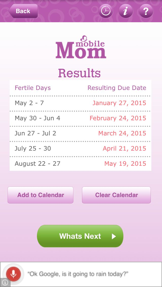 Due date calculator by ovulation