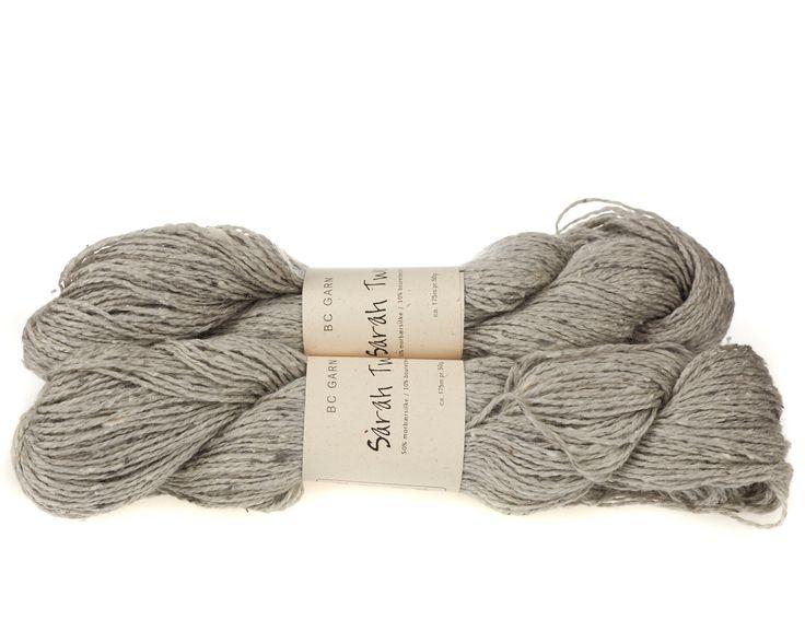Sarah Tweed lækkert uld / silkegarn - Lys grå - 59 kr. per fed á 50 gram