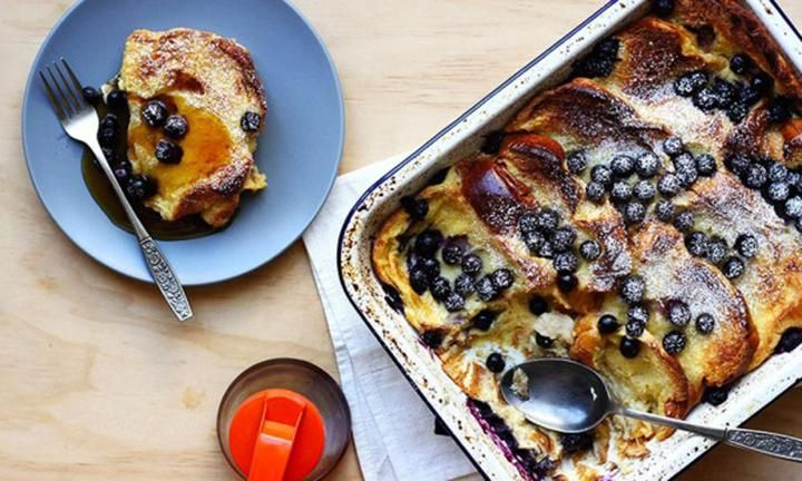 Overnight Blueberry French Toast would be the perfect kickoff to Mother's Day - just saying. Pass along the easy, kid-proof recipe to your kids!