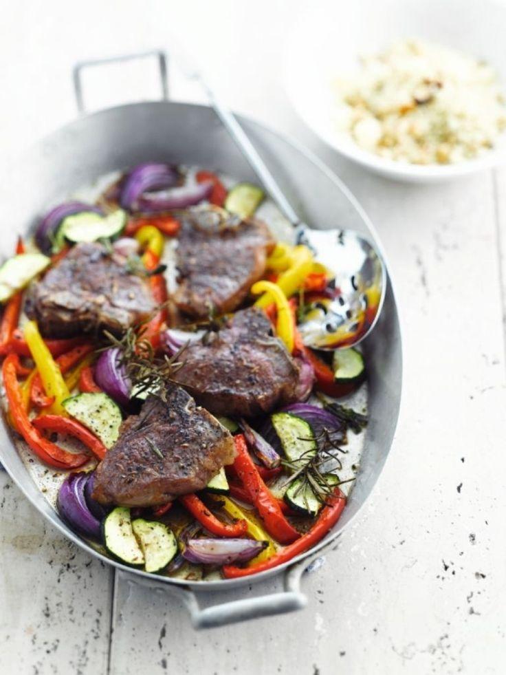 """Het lekkerste recept voor """"Lamskotelet uit de oven"""" vind je bij njam! Ontdek nu meer dan duizenden smakelijke njam!-recepten voor alledaags kookplezier!"""