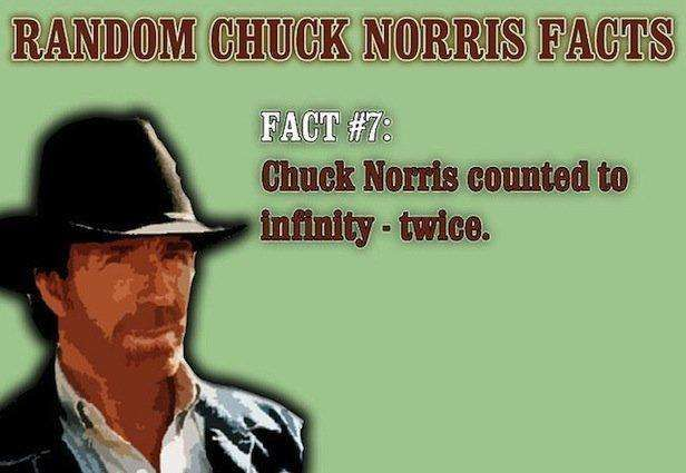 Chuck Norris Counted to Infinity...
