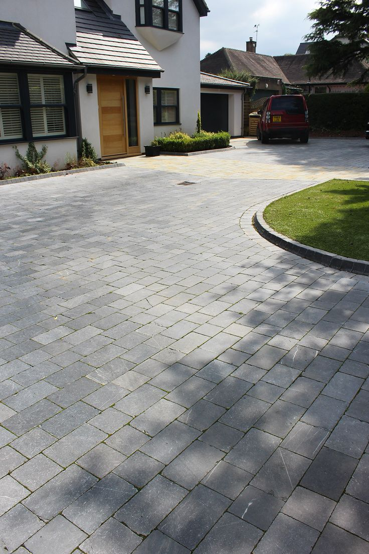Midnight Blue Limestone Block Paving | Driveway | Landscaping
