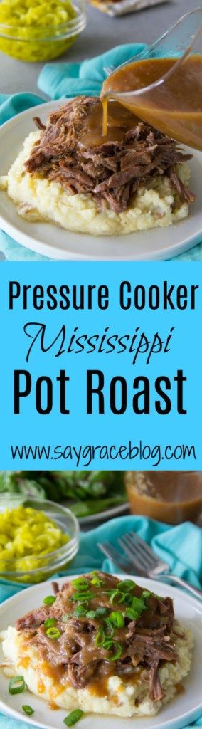This Pressure Cooker Mississippi Pot Roast Recipe yields the most luscious beef with a tangiest vinegar zip in just 90 minutes. Sunday Dinner has never been easier!!