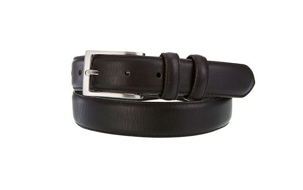 """Silver Buckle Belt. """"Simple accesssories can provide the finishing touch to any outfit, and this black belt with silver buckle is the perfect choice."""""""